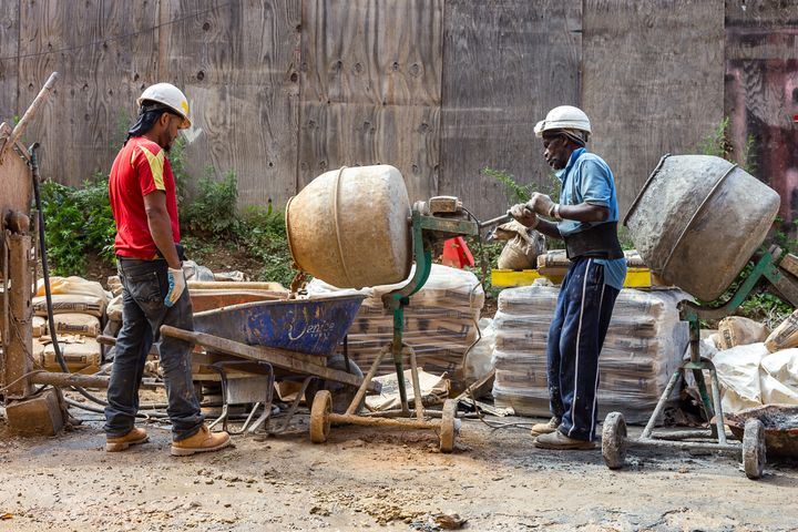 construction workers on L+M site