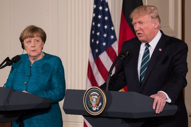 President Donald Trump and Chancellor Angela Merkel of Germany, held a joint press conference in the...