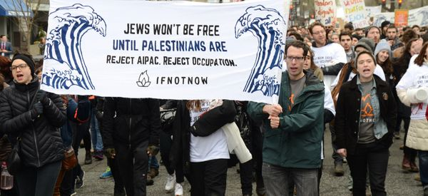 Protesters Take On Settlements In 'Biggest Ever Jewish-Led Protest' of AIPAC