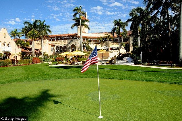 The site of the newly installed helipad at the President's private, for-profit club, Mar-a-Lago in Palm Beach, Florida (as se