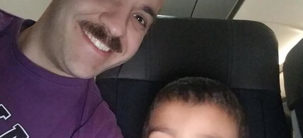 Stranger Shares Adorable Selfie Of Disabled Boy He Befriended On Flight