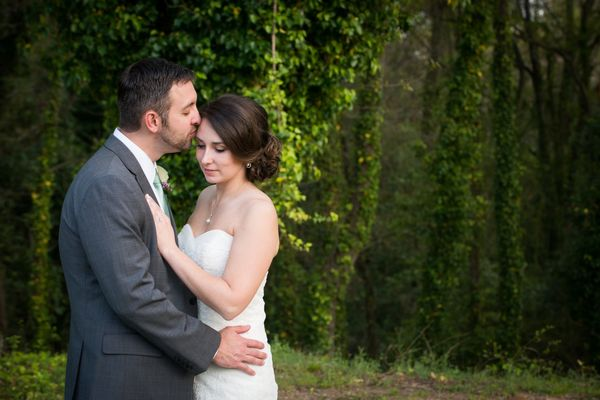 """""""Rachel and Brent had perfect weather for their wedding at Senate's End in Columbia, South Carolina!"""" -- <i>Katie Hart</i>"""