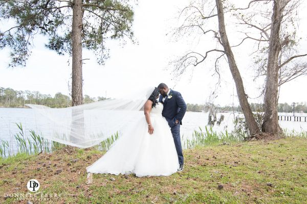 """""""Joy and Charles celebrated a beautiful wedding on Saturday at Marston Pavilion in North Carolina. Their wedding day was fill"""