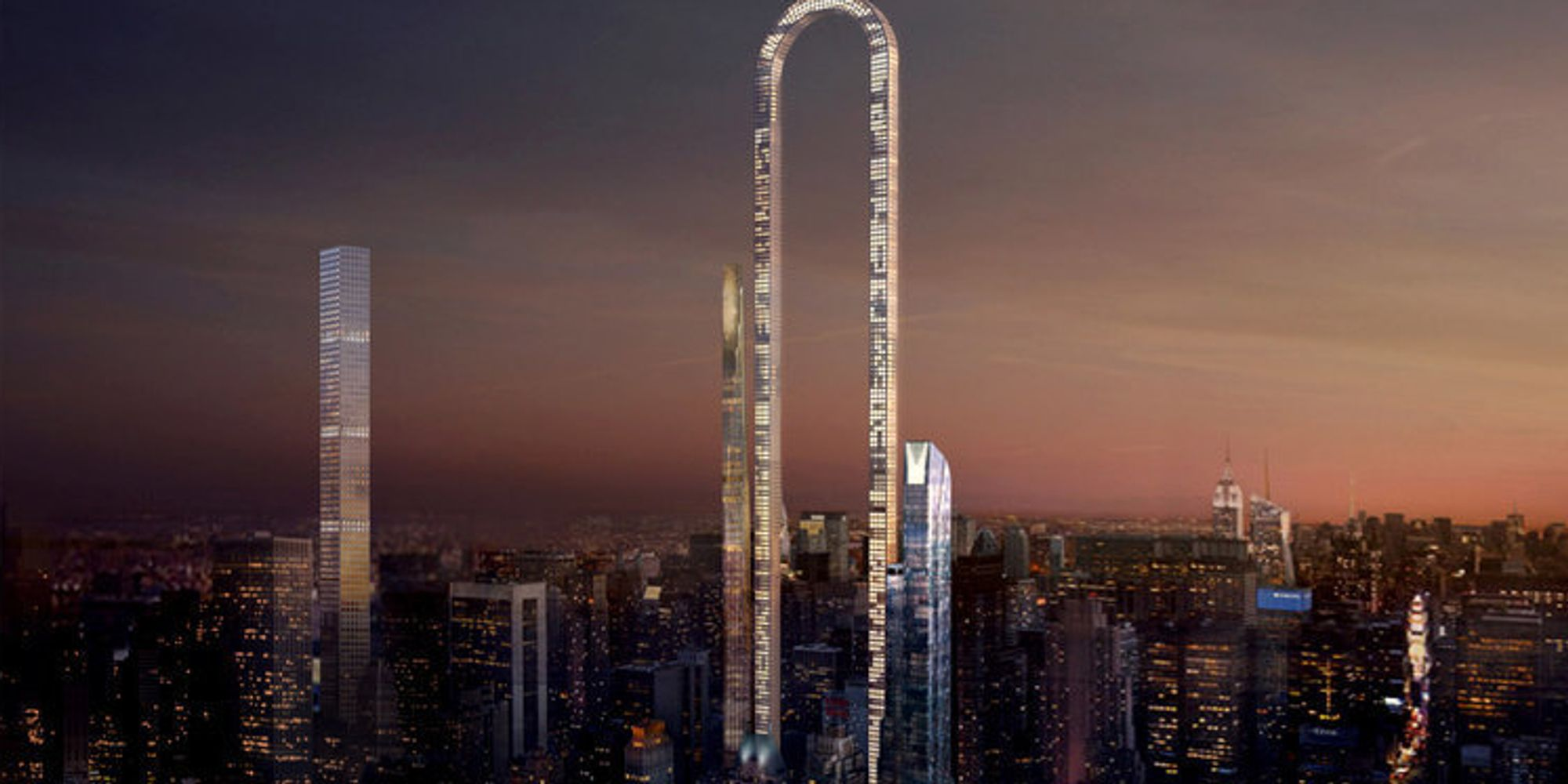 The Big Bend, A U-Shaped Skyscraper, Could Become The Longest In The World