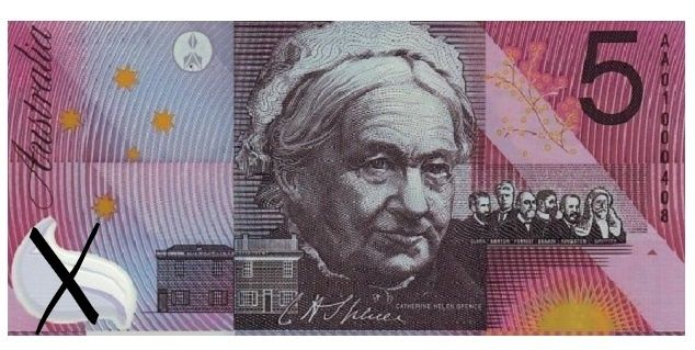 Australian currency rates alongside Sweden with equal representation of women on currency