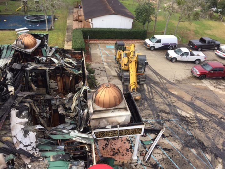Arson destroyed the Victoria Islamic Center in Texas earlier this year.
