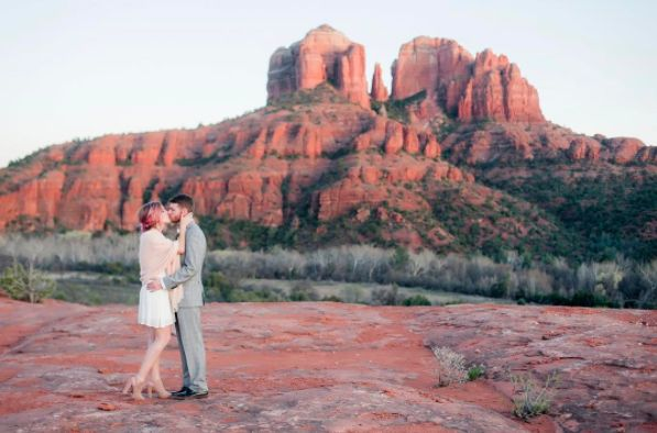 """""""Katie and Garrett's intimate wedding in Sedona was everything we love about photographing elopements. Their guest list"""