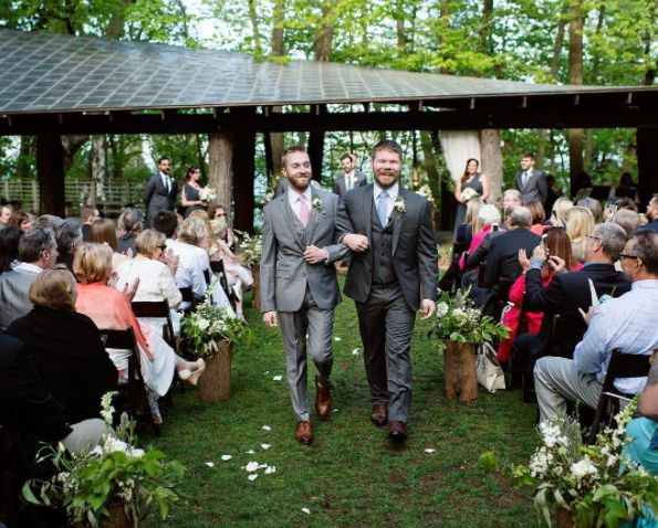 """""""David and Ryan's Schlitz Audobon wedding was a picture-perfect day!"""" --<i>Front Room Photography</i>"""