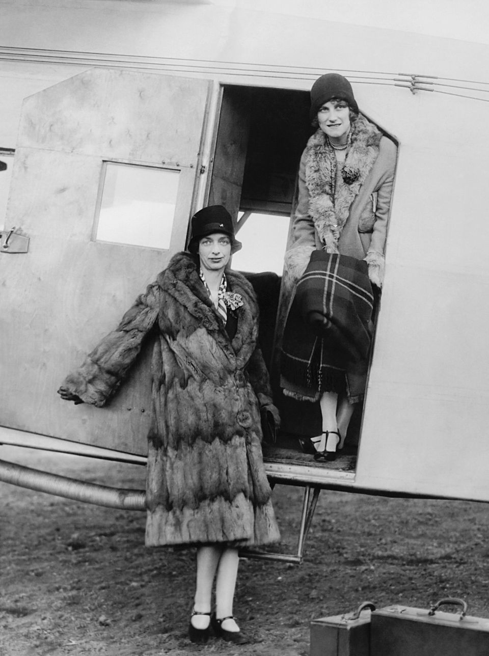 The official opening of an airline passenger service between Boston and New York took place when the first two women to make