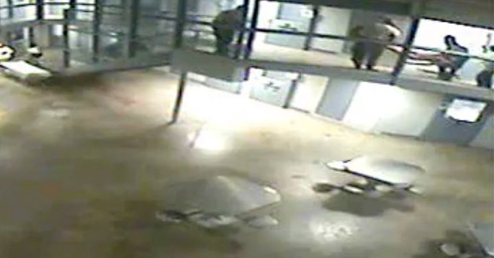 Surveillance video the night inmate Darren Rainey died shows prison staffers carrying his body from the second-floor shower d