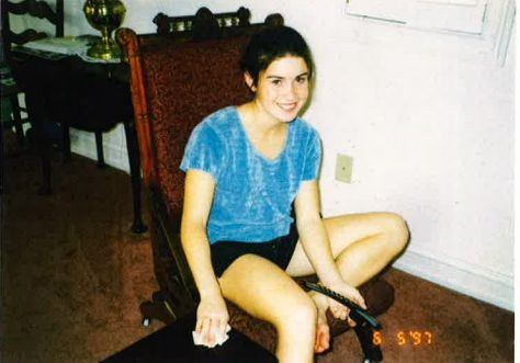 Larissa, who was a youth gymnast treated by Larry Nassar, pictured in 1997.