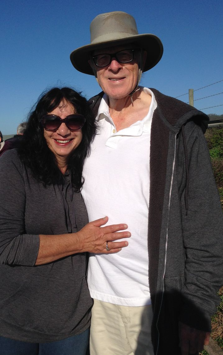 The author and her husband in 2015.