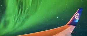 SOUTHERN LIGHTS AURORA AUSTRALIS AIR NEW ZEALAND AURORA FLYTHROUGH