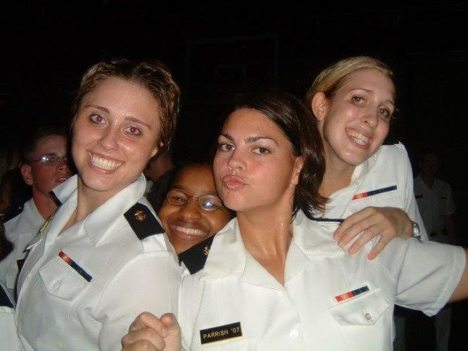 Hanging with some friends - clearly confident at the United States Naval Academy