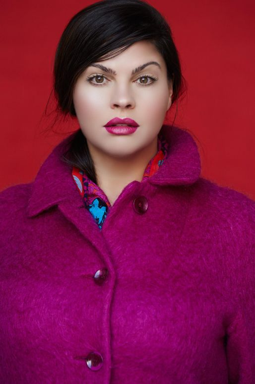Here I am wearing the fuchsia mohair coat from homecoming in a test shoot for my portfolio.