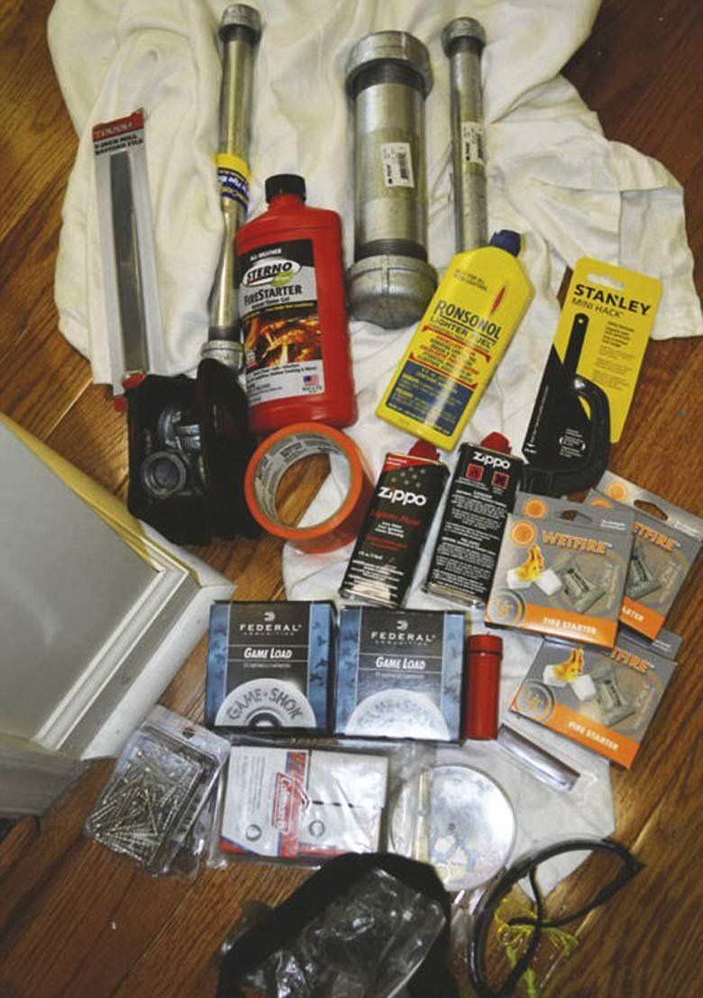 These are the bomb-making material police say they found in Nichole Cevario's home.
