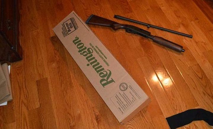 Investigators say they found this 12-gauge shotgun in the suspect's home.