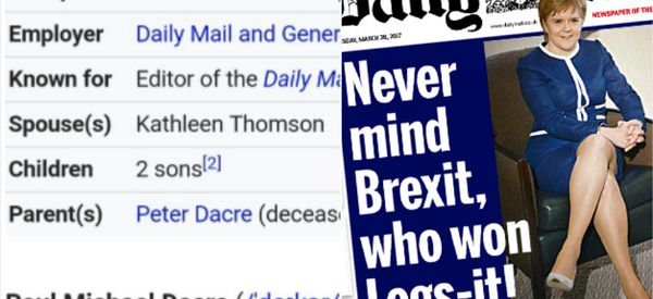 Paul Dacre's Wikipedia Hijacked After Outrage Over Mail's 'Legs-It!' Front Page