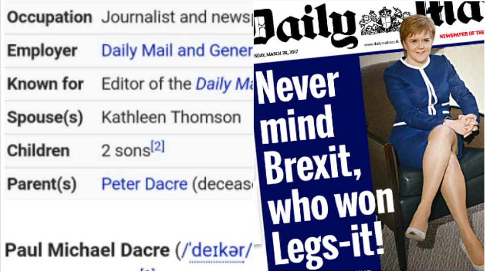 Paul Dacre's Wikipedia Hijacked After Outrage Over Mail's 'Legs-It!' Front