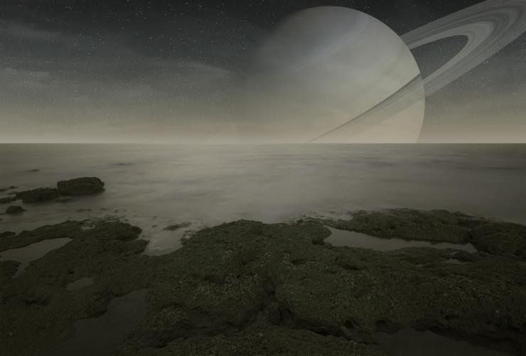 The Surface Of Saturn's Moon Titan Is Like Something Out Of A Science Fiction Novel