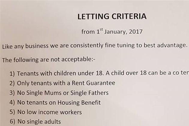 Wilson's list of tenants that should be turned