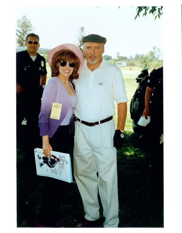 <p>Kat Kramer with actor Dennis Hopper.</p>