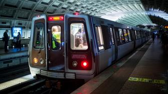 UNITED STATES - SEPTEMBER 27: A WMATA Metro Red Line Metro train pulls into Metro Center in Washington on Tuesday, Sept. 27, 2016. (Photo By Bill Clark/CQ Roll Call)