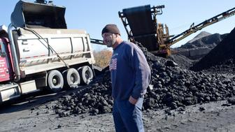 SCHUYLKILL COUNTY, PA - NOVEMBER 7: Schuylkill County coal mine operator Ettore DiCasimirro runs one of the few surviving mines in the area, once a prosperous coal region, November 7, 2016. One day before the Presidential election, he says he and most of the people working for him support Donald Trump because he will roll back environmental regulations that have crippled the coal industry. (Photo by Andrew Lichtenstein/Corbis via Getty Images)