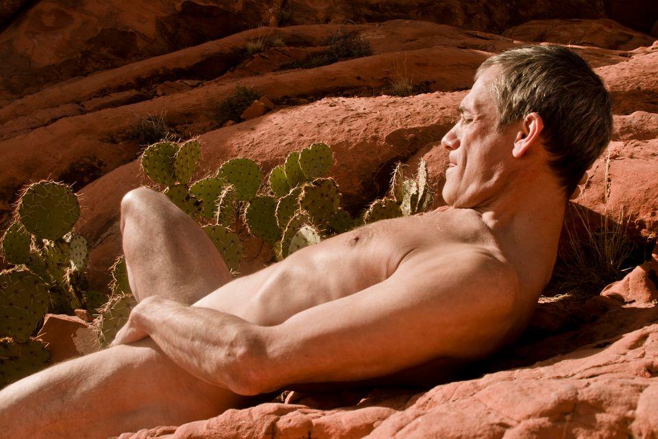 nude girl seducing male