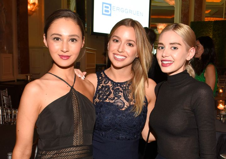 Holzwarth, Lydia Gray and Alexandra Lenas Parker attend an event on May 3, 2016, in Los Angeles.