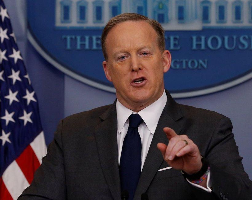 White House Press Secretary Sean Spicer holds the daily press briefing on Monday.