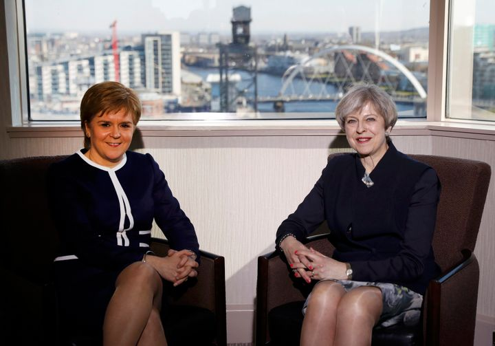 Sturgeon and May met on Monday