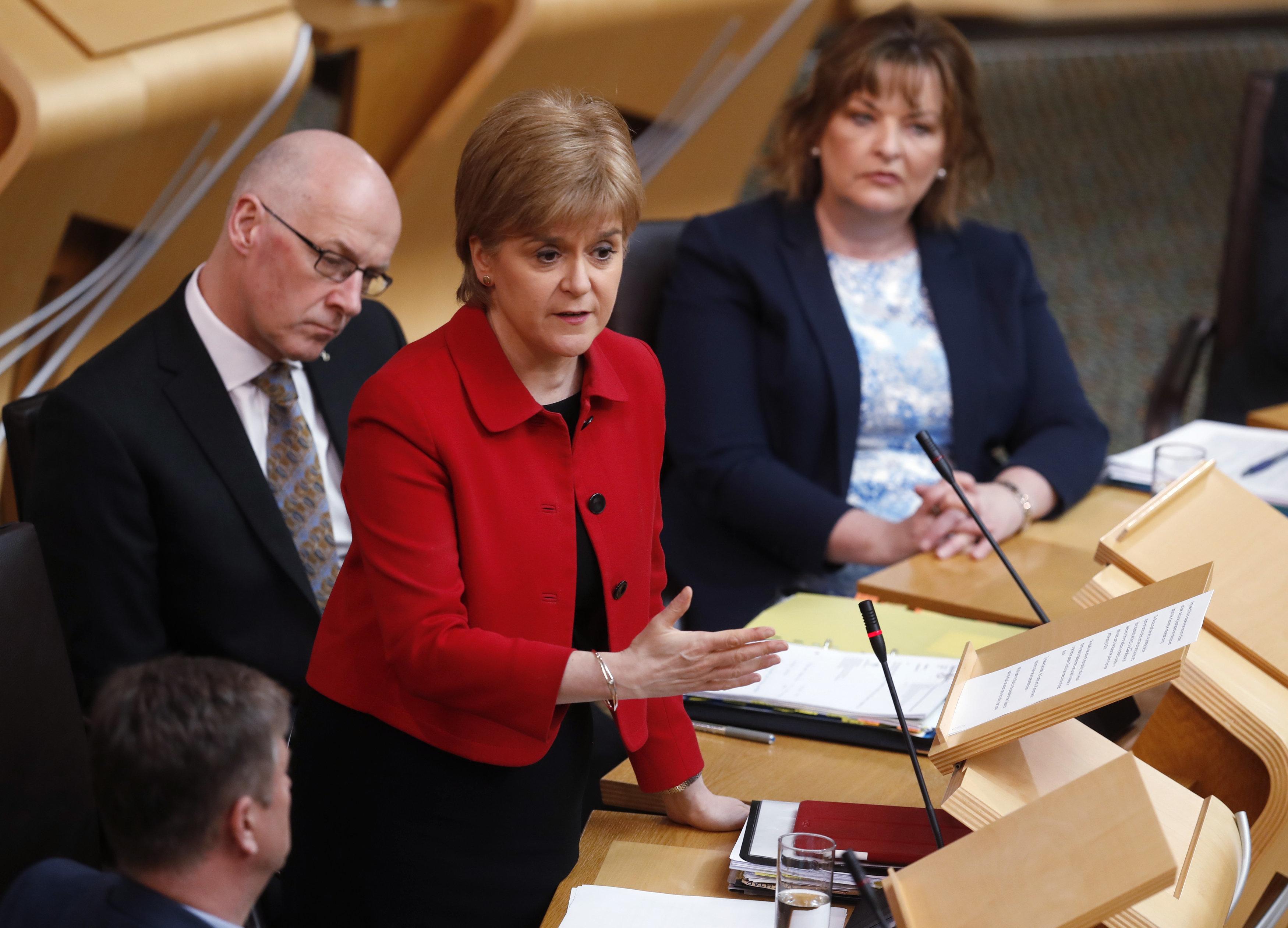 Sturgeon in the Scottish Parliament on