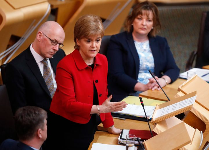 Sturgeon in the Scottish Parliament on Tuesday
