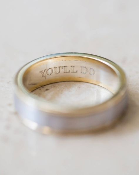 10 Cheeky Wedding Ring Engravings That Speak Volumes Huffpost Life