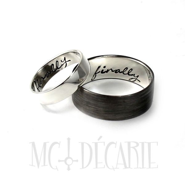 mcdecarie jewelry - Wedding Ring Inscriptions