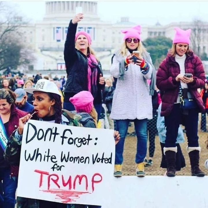 Angela Peoples shares the real at the Women's March on Washington on Jan. 21, 2017.