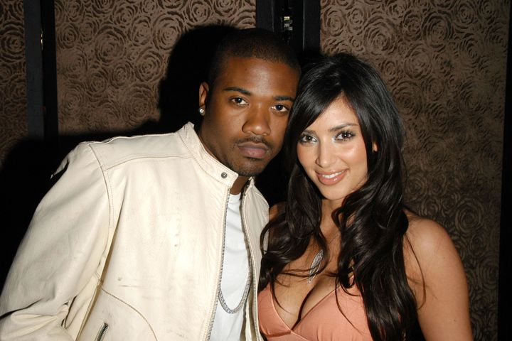 Ray J and Kim Kardashian at Charlotte Ronson Fall/Winter 2006 Collection at Liberty Bar on March 22, 2006.
