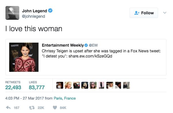 Not Even John Legend Is Safe From Chrissy Teigen's Trolling On