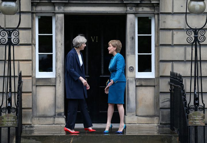 May has come head-to-head with Scottish First Minister Nicola Sturgeon, who is campaigning for a new Scottish indep