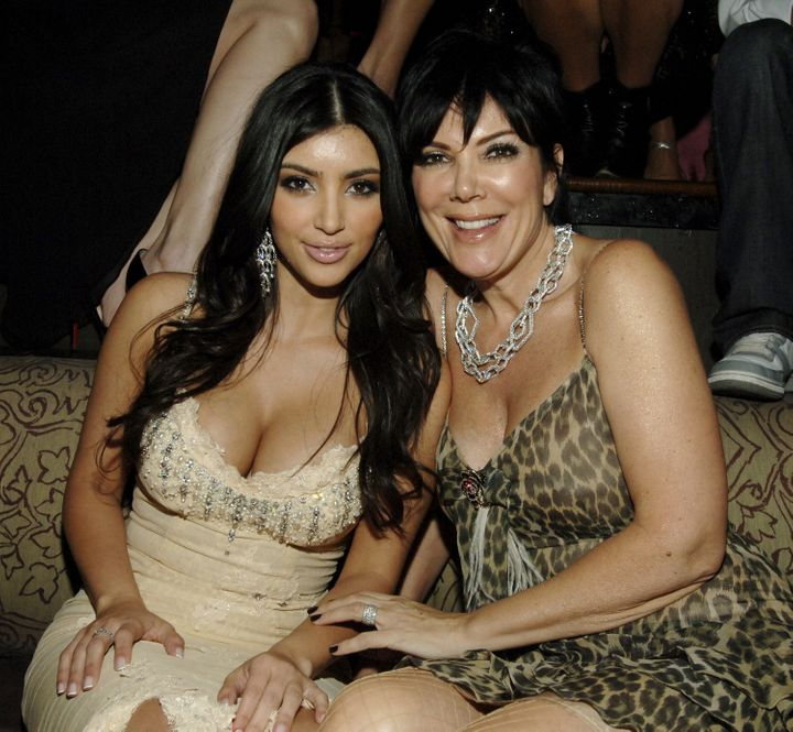 Kim Kardashian and Kris Jenner at Tao Nightclub in Las Vegas on April 6, 2007.