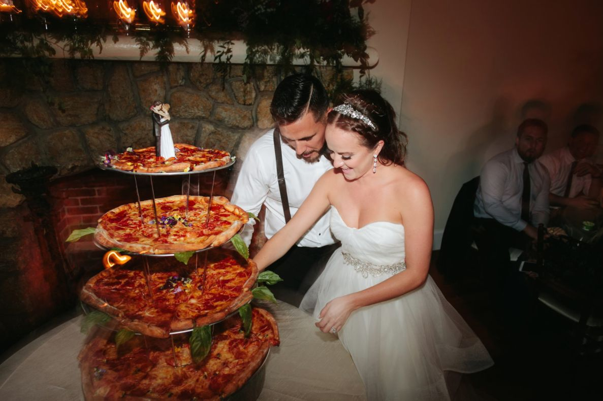 Pizza cake beats wedding cake any day.