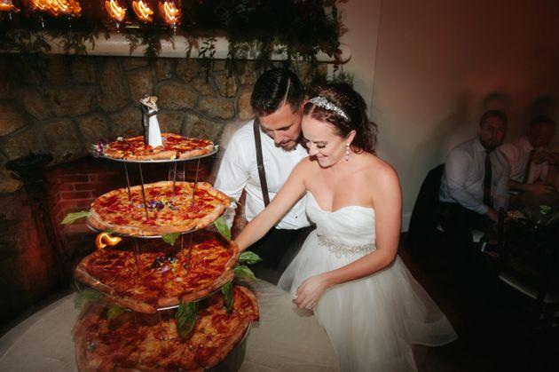 Pizza cake beats wedding cake any