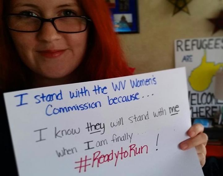 Supporters of the West Virginia Women's Commission share photos on its Facebook page.