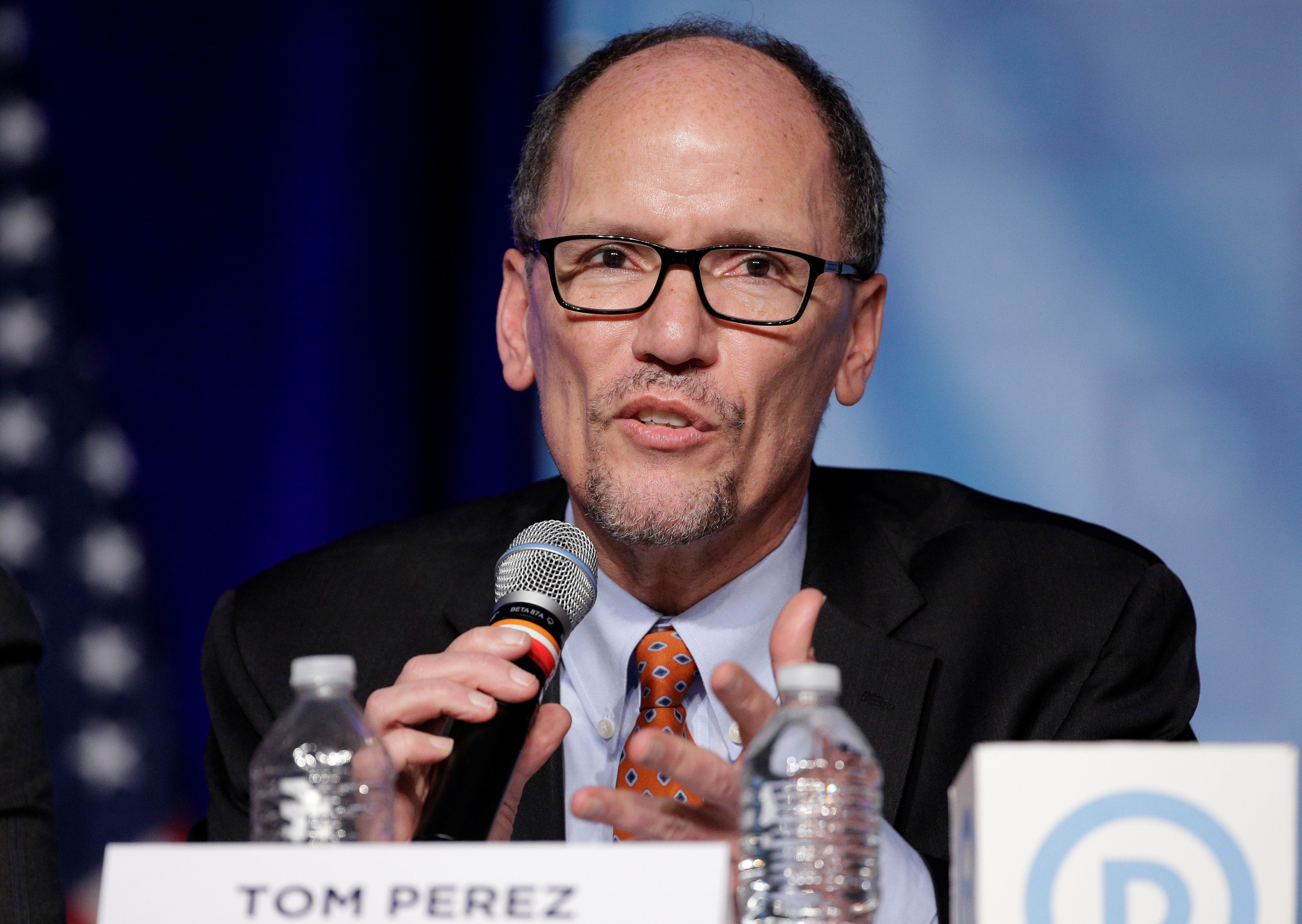 Tom Perez, the new chairman of the Democratic National Committee, has asked for resignation letters dated April 15.