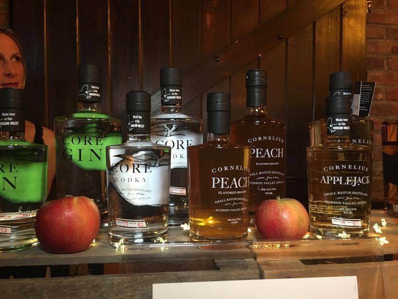 Tastings of Cornelius Apple Jack brightened things up!