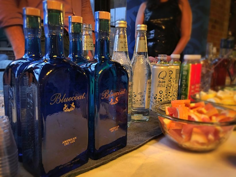Fizzy cocktails made with Bluecoat American Dry Gin