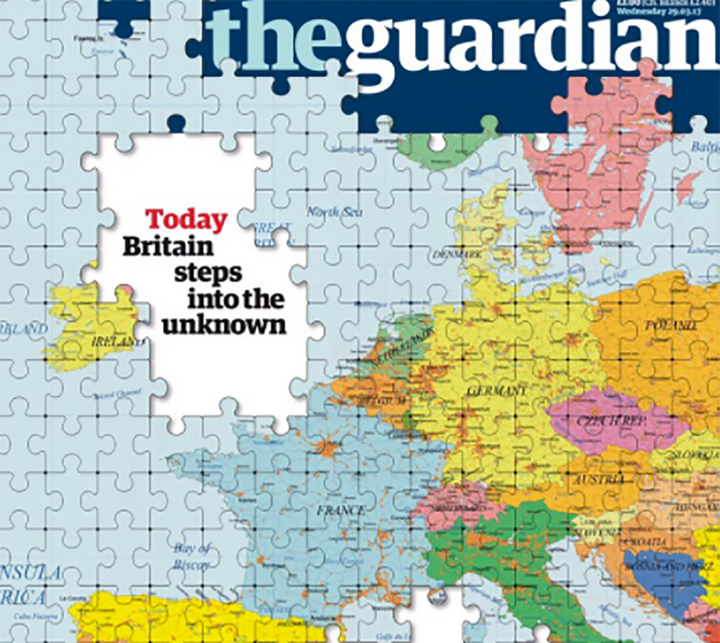 The Guardian's jigsaw caused concern for some in the Republic of Ireland