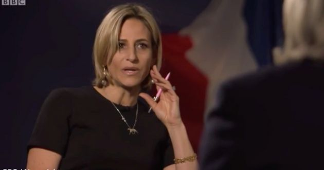 Emily Maitlis repeatedly shook her head at the accusation she 'wanted