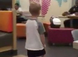 Little Boy Asks His Mum If He Is Allowed To Hug A Policeman